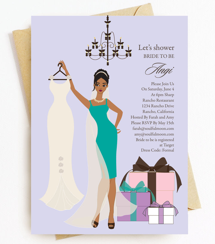 African American Bridal Shower Invitations