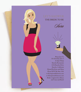 Blonde Bridal Shower Invitations