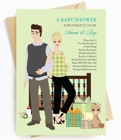 Blonde Baby Shower Invitations
