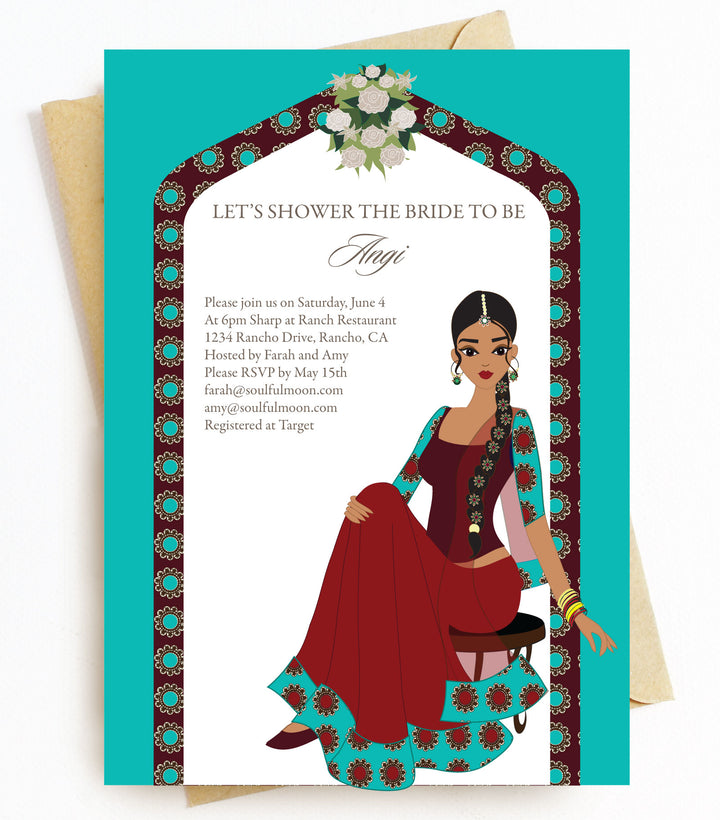 Indian Bridal Shower Invitations