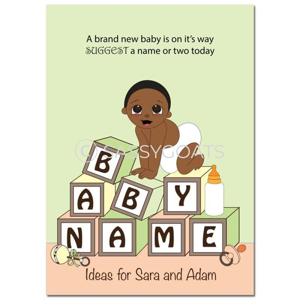 African American Baby Shower Games - Blocks Name Suggestions