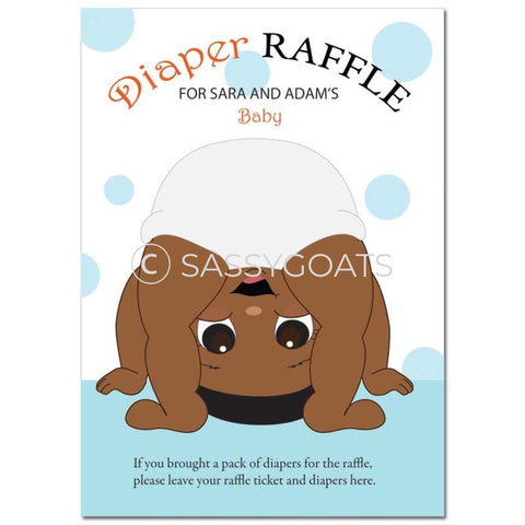 African American Baby Shower Games - Bum Diaper Raffle