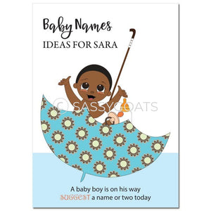 African American Baby Shower Games - Umbrella Name Suggestions