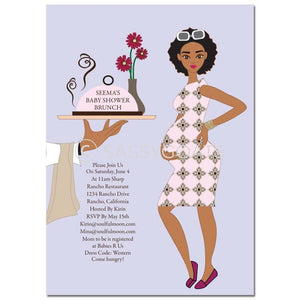 African American Baby Shower Invitation - Dining Diva