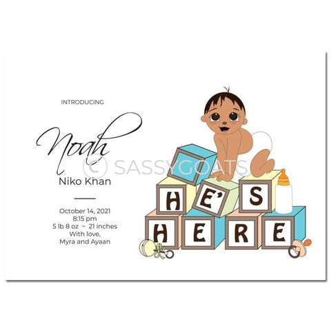 Baby Shower Announcement - Blocks