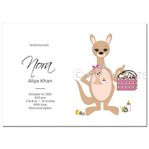 Baby Shower Announcement - Kangaroo Mama