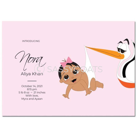 Baby Shower Announcement - Stork