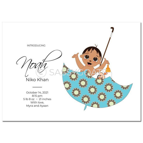 Baby Shower Announcement - Umbrella