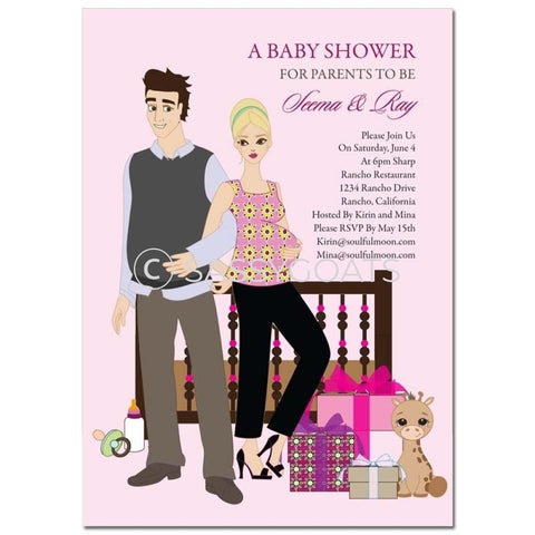 Baby Shower Invitation - Back To Blonde