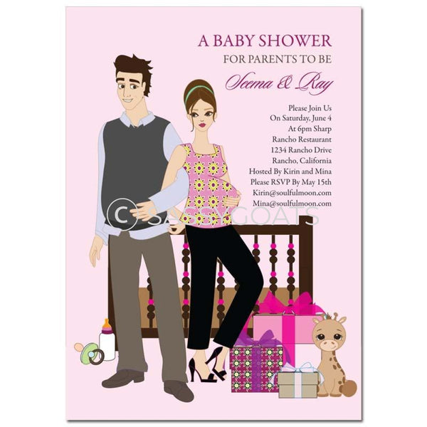 Baby Shower Invitation - Back To Brunette