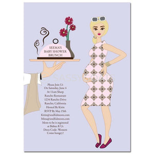 Baby Shower Invitation - Dining Diva Blonde
