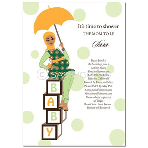 Baby Shower Invitation - Diva Blocks Headscarf Hijab