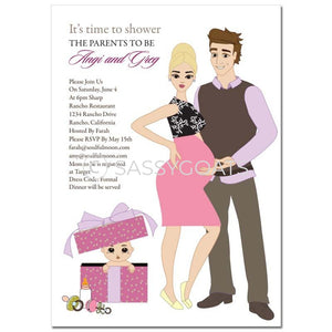Baby Shower Invitation - Glam Couple Blonde