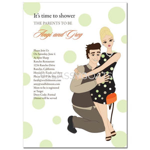 Baby Shower Invitation - Hugs Blonde