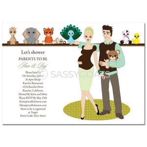 Baby Shower Invitation - Shelf Blonde