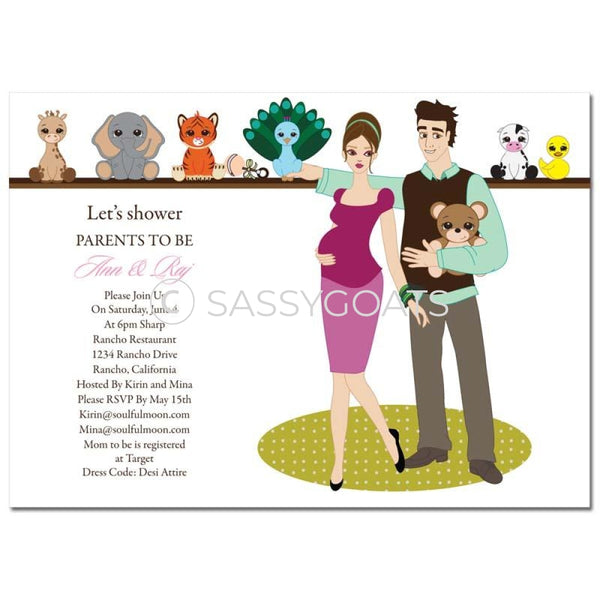 Baby Shower Invitation - Shelf Brunette