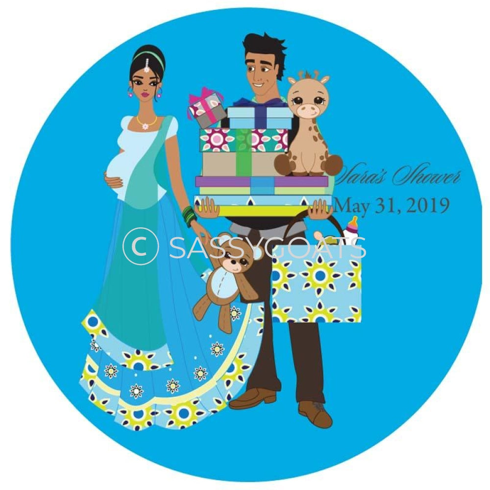 Baby Shower Party And Gift Stickers - Bounty South Asian