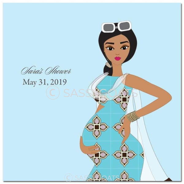 Baby Shower Party And Gift Stickers - Dining Diva South Asian
