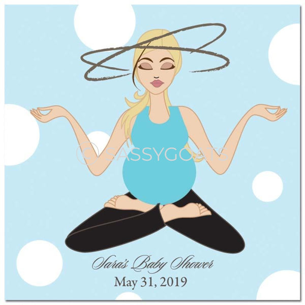 Baby Shower Party And Gift Stickers - Meditating Mommy Blonde