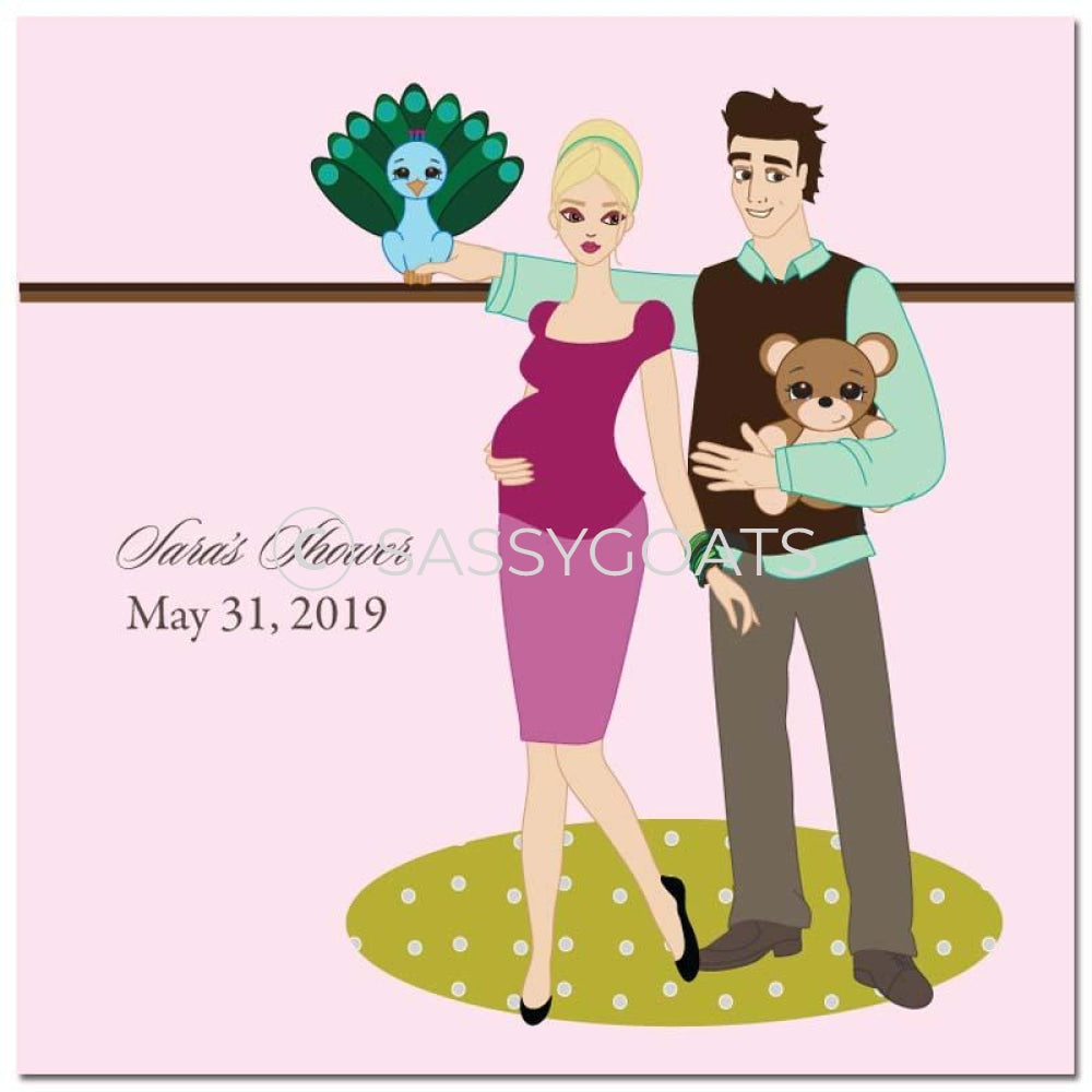 Baby Shower Party And Gift Stickers - Shelf Blonde