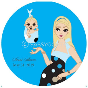 Baby Shower Party And Gift Stickers - Spring Delivery Blonde