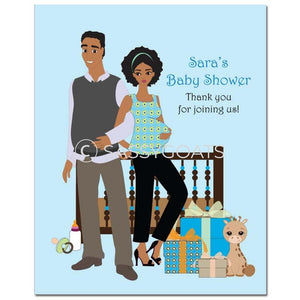 Baby Shower Party Poster - Back To African American