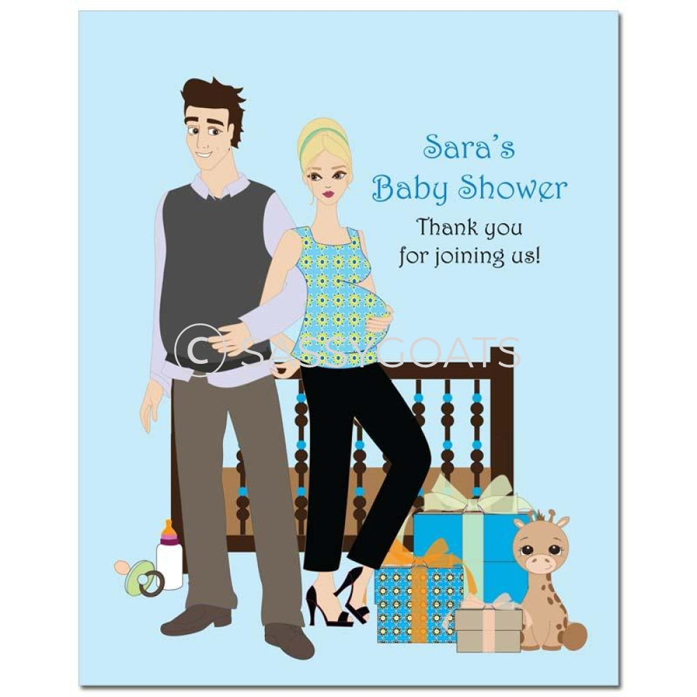 Baby Shower Party Poster - Back To Blonde