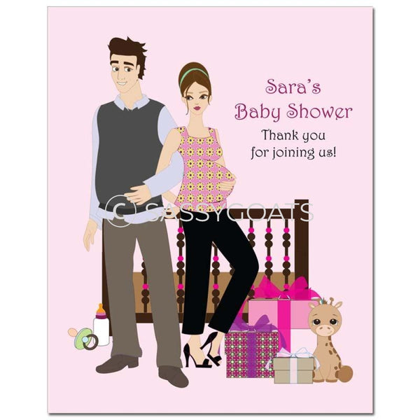Baby Shower Party Poster - Back To Brunette