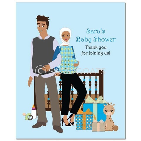 Baby Shower Party Poster - Back To Headscarf Hijab
