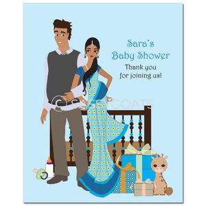 Baby Shower Party Poster - Back To South Asian