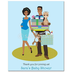 Baby Shower Party Poster - Bounty African American