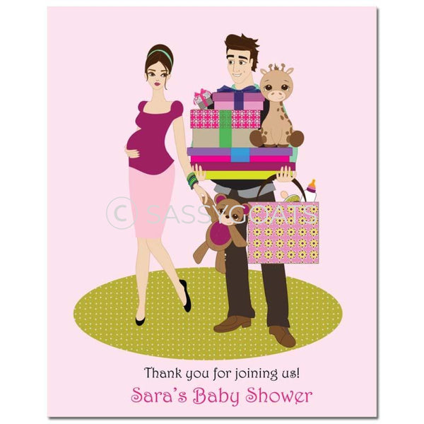 Baby Shower Party Poster - Bounty Brunette