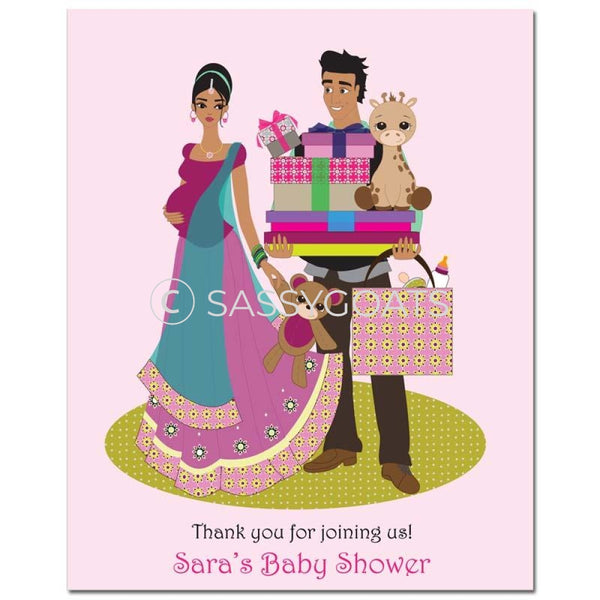 Baby Shower Party Poster - Bounty South Asian