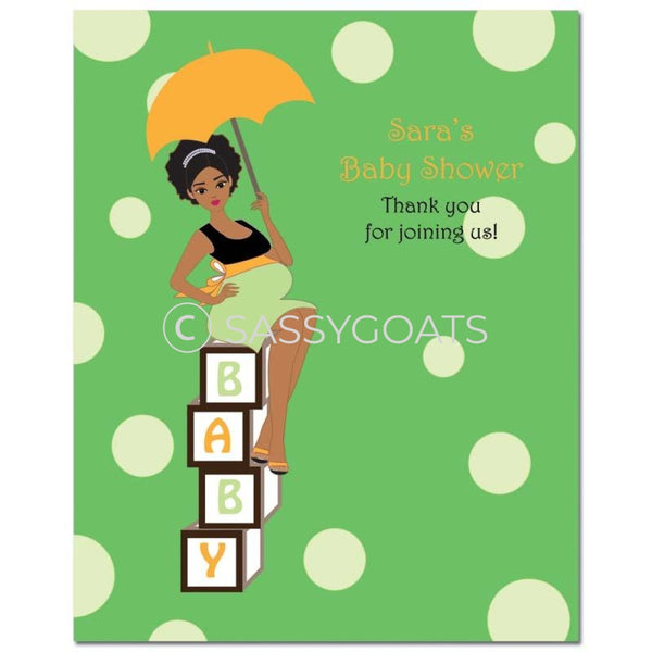 Baby Shower Party Poster - Diva Blocks African American