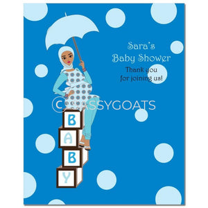 Baby Shower Party Poster - Diva Blocks Headscarf Hijab