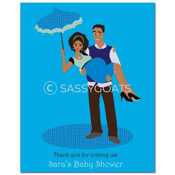 Baby Shower Party Poster - Mommy Cargo African American