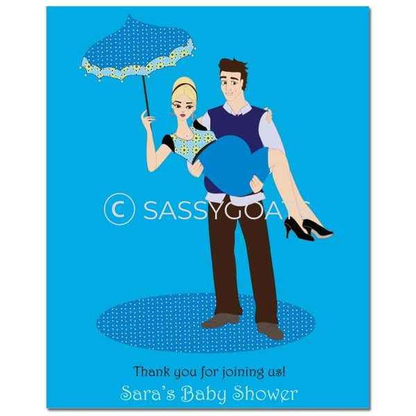 Baby Shower Party Poster - Mommy Cargo Blonde