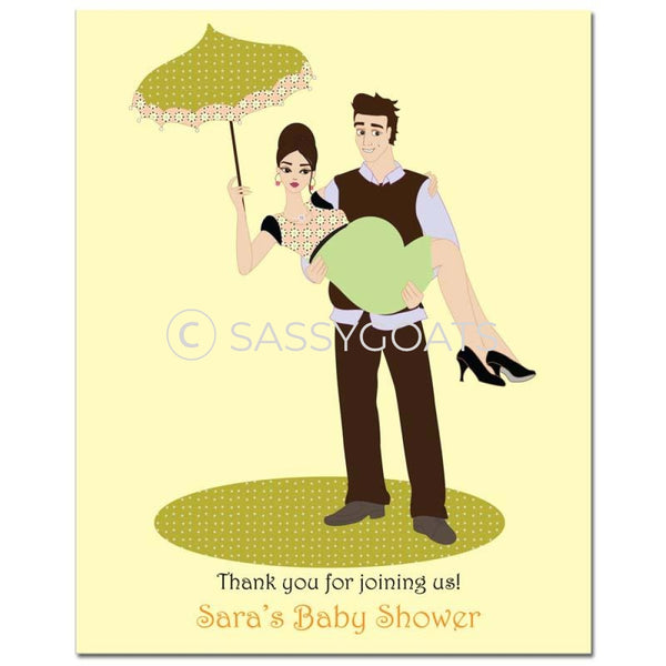 Baby Shower Party Poster - Mommy Cargo Brunette