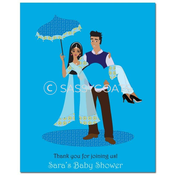 Baby Shower Party Poster - Mommy Cargo South Asian