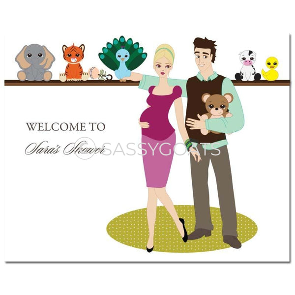 Baby Shower Party Poster - Shelf Blonde