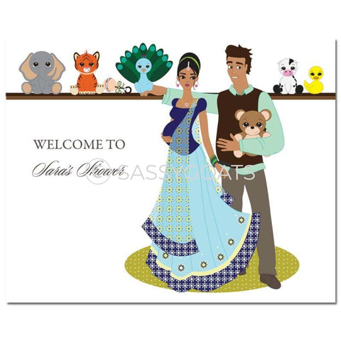 Baby Shower Party Poster - Shelf South Asian