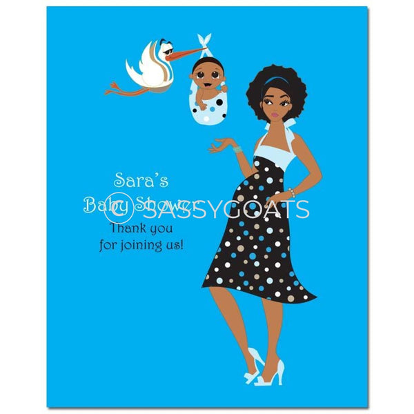 Baby Shower Party Poster - Spring Delivery African American