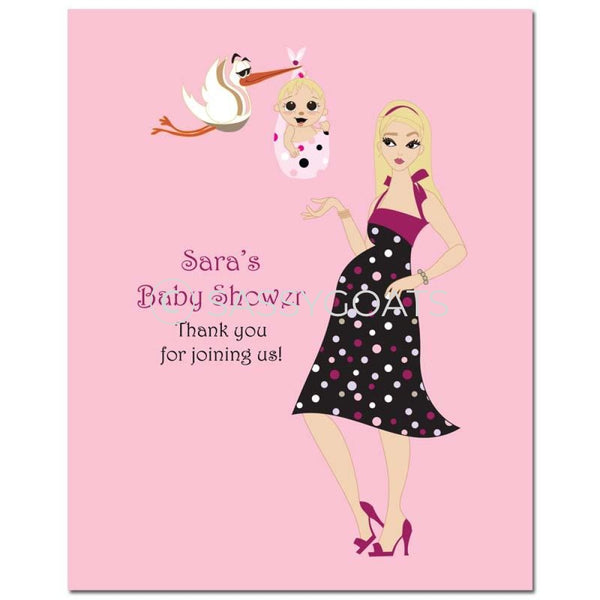 Baby Shower Party Poster - Spring Delivery Blonde