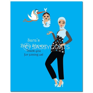 Baby Shower Party Poster - Spring Delivery Headscarf Hijab