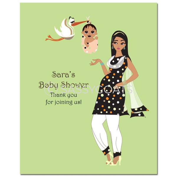 Baby Shower Party Poster - Spring Delivery South Asian