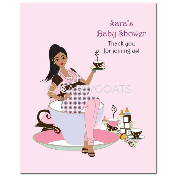 Baby Shower Party Poster - Teacup Mommy South Asian