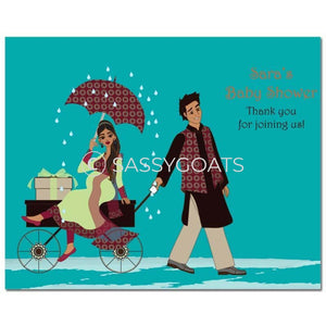 Baby Shower Party Poster - Wagon Diva South Asian