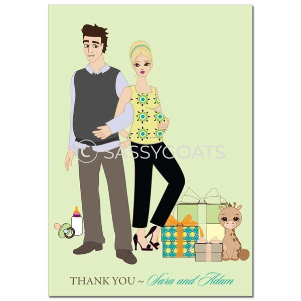 Baby Shower Thank You Card - Back To Blonde
