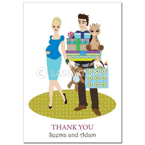 Baby Shower Thank You Card - Bounty Blonde