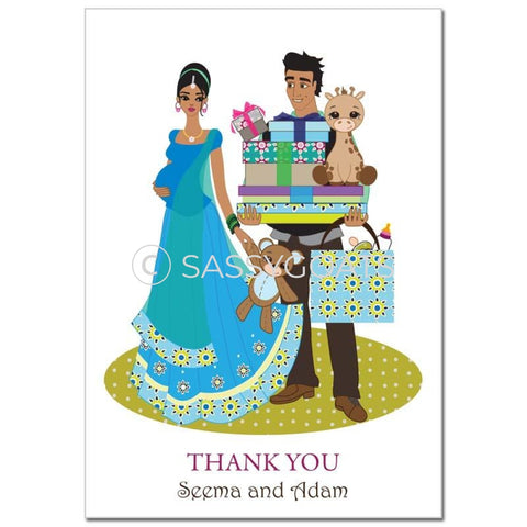 Baby Shower Thank You Card - Bounty South Asian